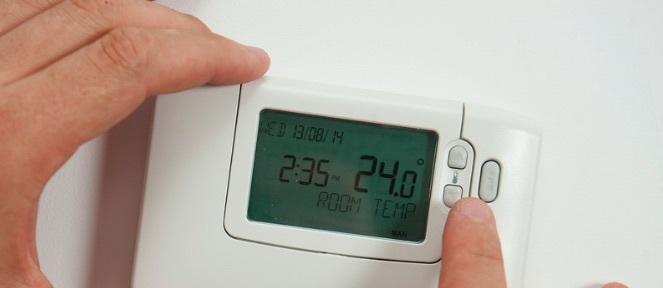 temperatura del aire acondicionado