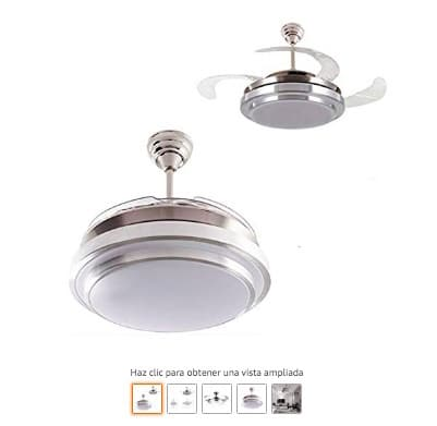 ventiladores de techo con luz aspas transparentes
